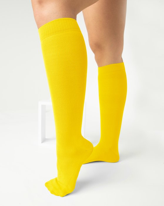 Yellow Sports Socks Style# 1559 | We Love Colors