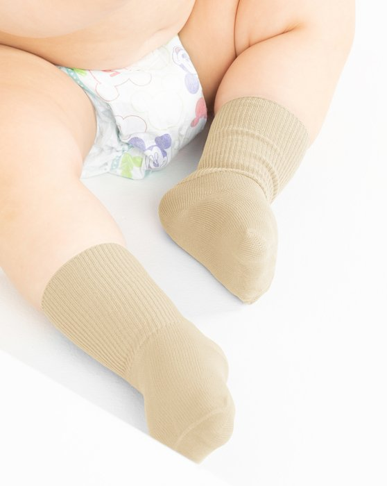 Light-Tan Kids Nylon Socks Style# 1577 | We Love Colors