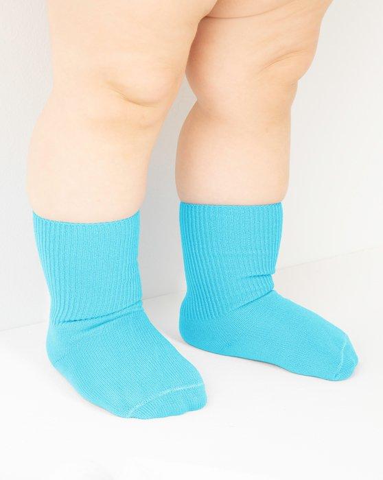 Neon-Blue Kids Nylon Socks Style# 1577   We Love Colors