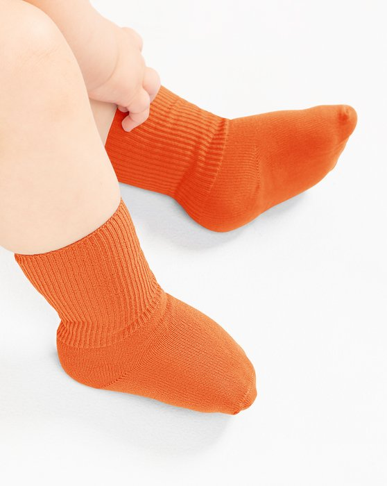 Orange Kids Nylon Socks Style# 1577 | We Love Colors