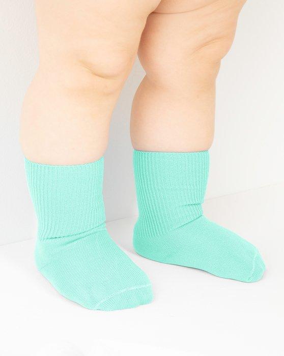 Pastel-Mint Kids Nylon Socks Style# 1577   We Love Colors