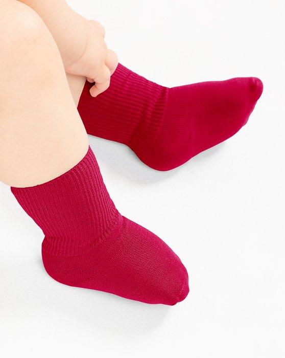 Red Kids Nylon Socks Style# 1577 | We Love Colors