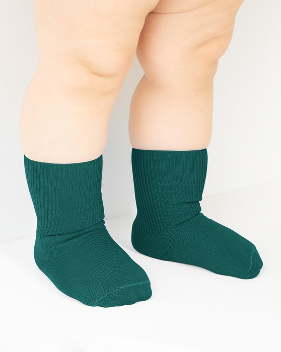 Spruce-Green Kids Nylon Socks Style# 1577 | We Love Colors