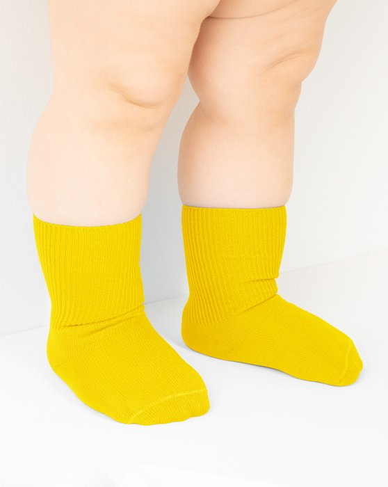 Yellow Kids Nylon Socks Style# 1577 | We Love Colors