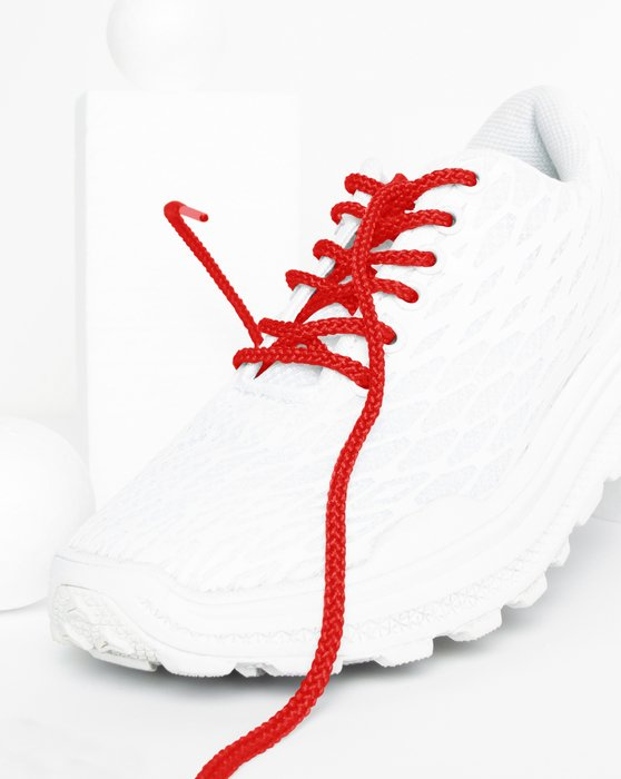 Scarlet Red Round Shoelaces Style# 3001 | We Love Colors