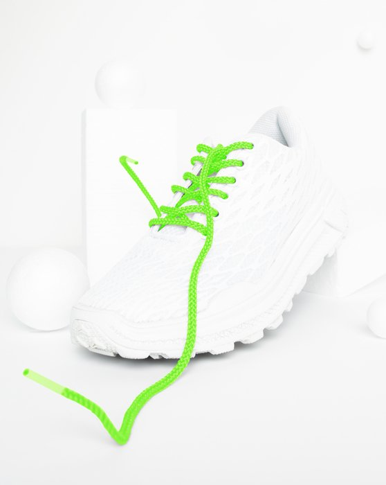Neon-Green Round Shoelaces Style# 3001 | We Love Colors