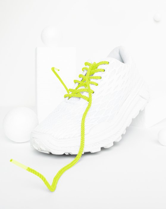 Neon Yellow Round Shoelaces Style# 3001 | We Love Colors