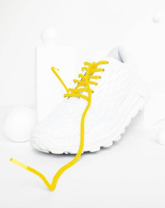 Yellow Womens Round Shoelaces Style# 3001 | We Love Colors