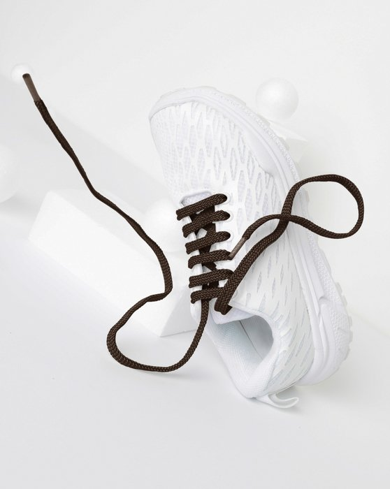 Brown Flat Shoelaces Style# 3002 | We Love Colors