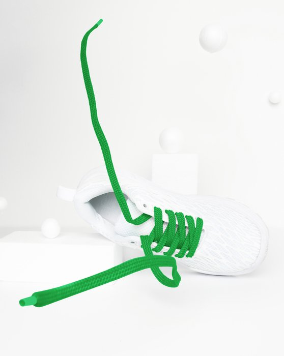 Kelly Green Flat Shoelaces Style# 3002 | We Love Colors