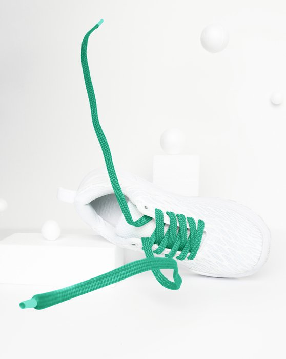 Emerald Womens Flat Shoelaces Style# 3002 | We Love Colors
