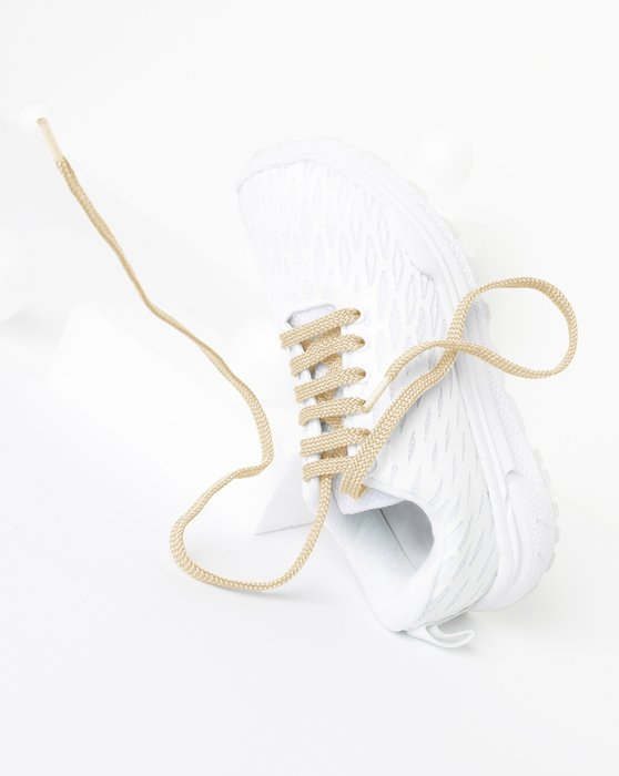 Light-Tan Womens Flat Shoelaces Style# 3002 | We Love Colors