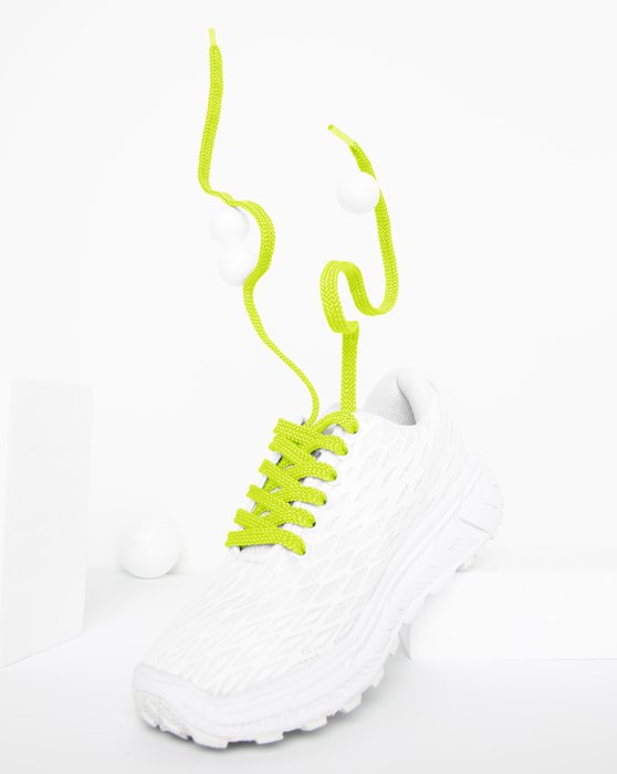 Neon Yellow Flat Shoelaces Style# 3002 | We Love Colors