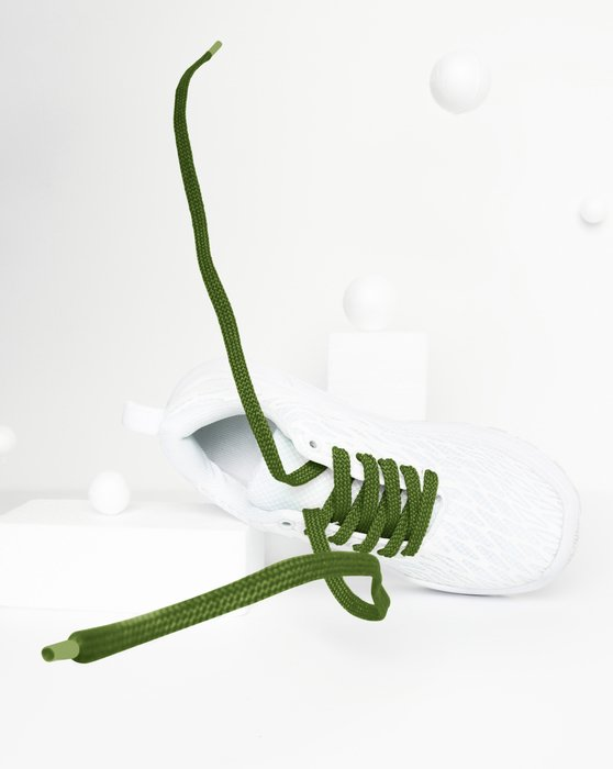 Olive Green Flat Shoelaces Style# 3002 | We Love Colors