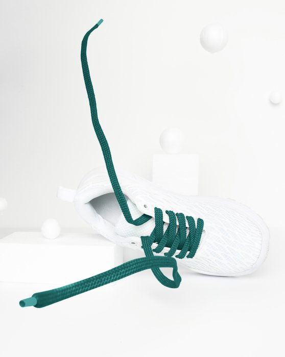 Spruce-Green Womens Flat Shoelaces Style# 3002 | We Love Colors