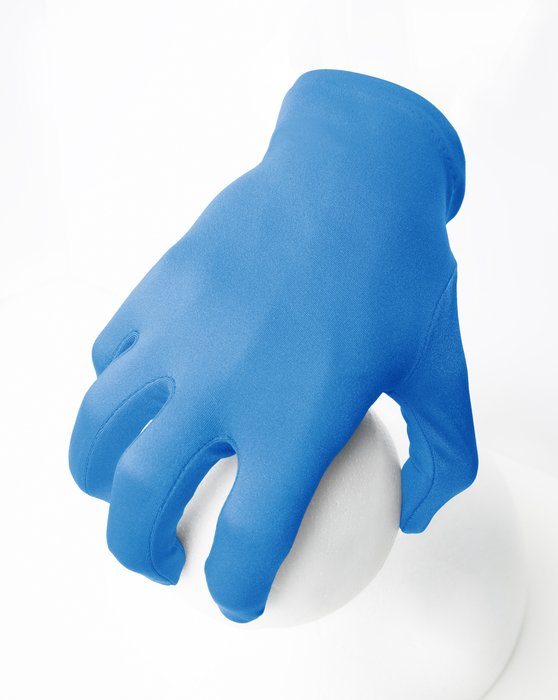 Medium-Blue Womens Wrist Gloves Style# 3405   We Love Colors