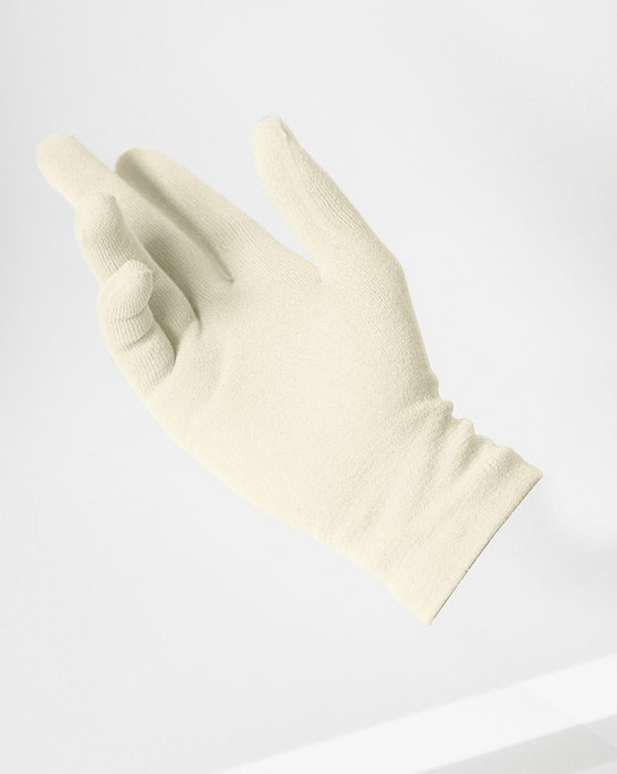 Ivory Short Matte Seamless Gloves Style# 3601 | We Love Colors