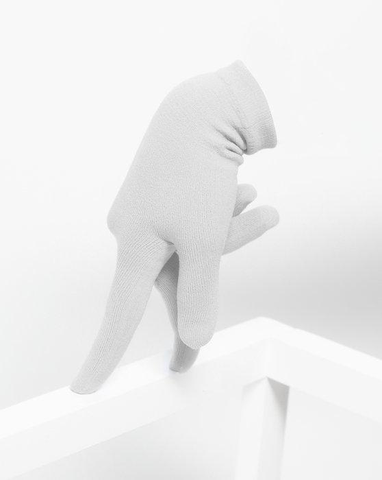 Light Grey Short Matte Seamless Gloves Style# 3601 | We Love Colors