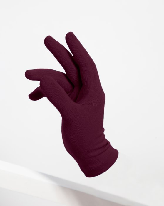 Maroon Short Matte Seamless Gloves Style# 3601 | We Love Colors