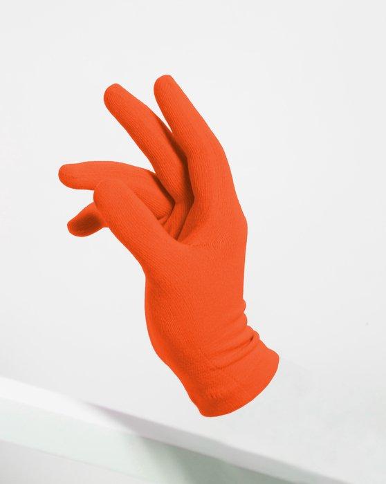 Orange Womens Short Matte Seamless Gloves Style# 3601 | We Love Colors