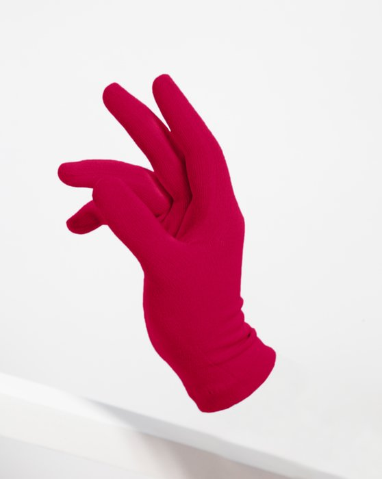 Red Short Matte Seamless Gloves Style# 3601 | We Love Colors
