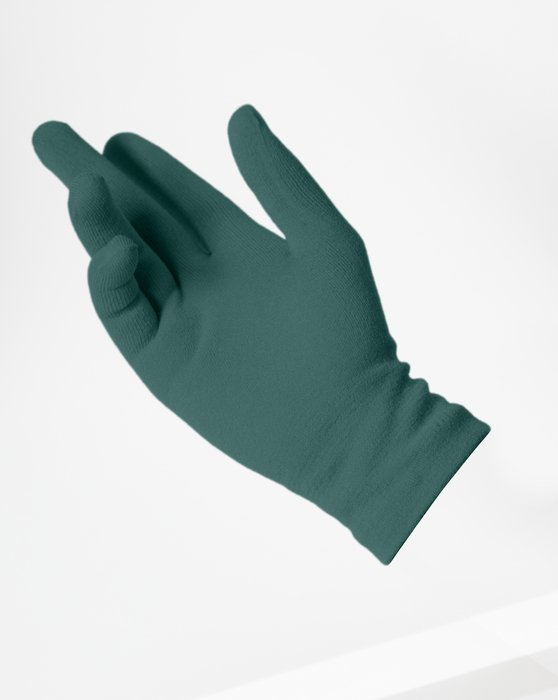 Spruce-Green Womens Short Matte Seamless Gloves Style# 3601 | We Love Colors