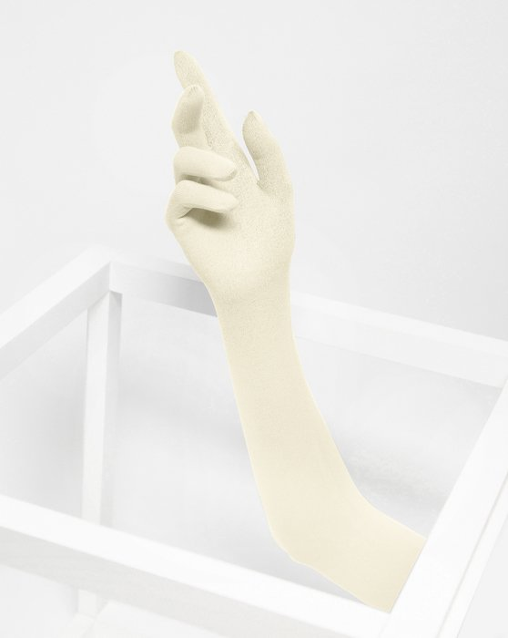 Ivory Long Matte Seamless Gloves Style# 3607 | We Love Colors