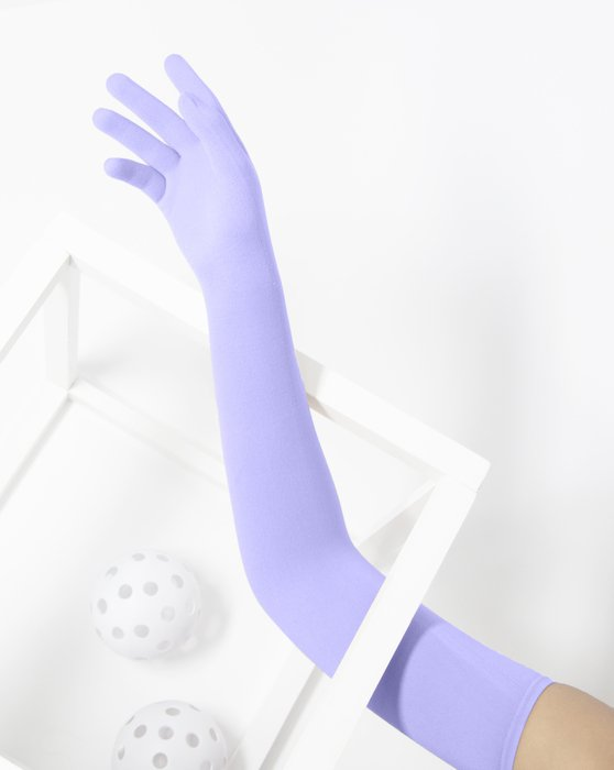 Lilac Womens Long Matte Seamless Gloves Style# 3607 | We Love Colors