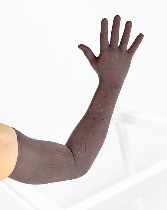Mocha Long Matte Seamless Gloves Style# 3607 | We Love Colors