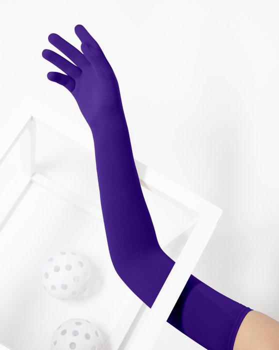 Purple Long Matte Seamless Gloves Style# 3607 | We Love Colors