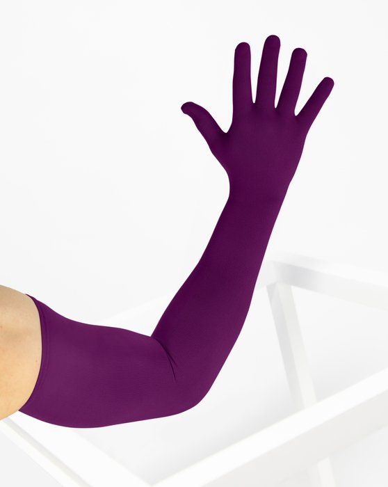 Rubine Womens Long Matte Seamless Gloves Style# 3607 | We Love Colors