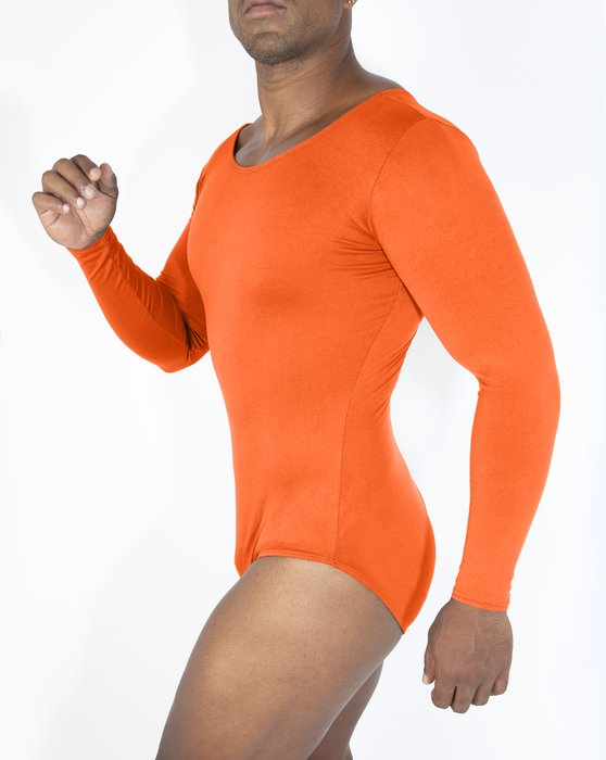 Neon Orange Womens Long Sleeve Scoop Neck Leotard Style# 5002 | We Love Colors