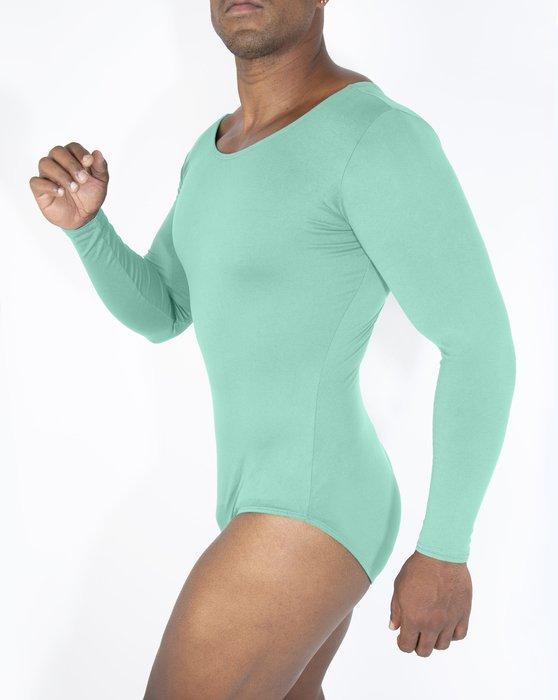Pastel Mint Womens Long Sleeve Scoop Neck Leotard Style# 5002 | We Love Colors