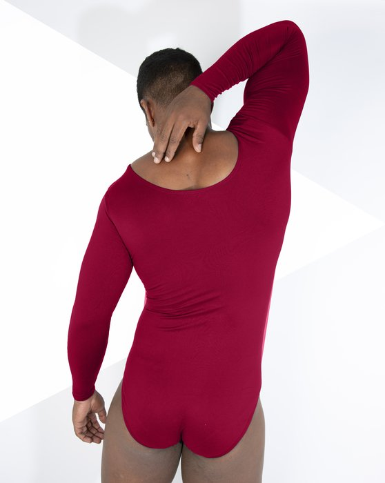 Red Womens Long Sleeve Scoop Neck Leotard Style# 5002 | We Love Colors