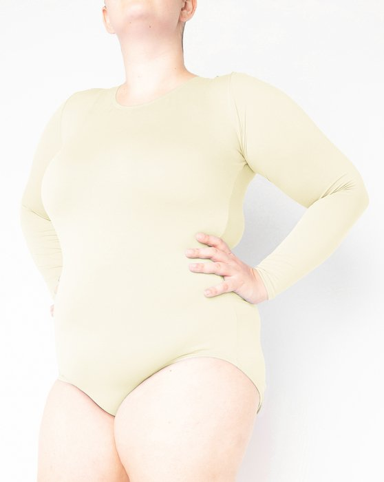 Ivory Womens Long Sleeve Scoop Neck Leotard Style# 5002 | We Love Colors
