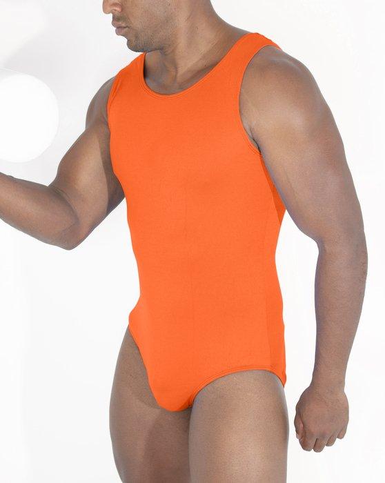 Neon-Orange Womens Tank Leotard Style# 5006 | We Love Colors