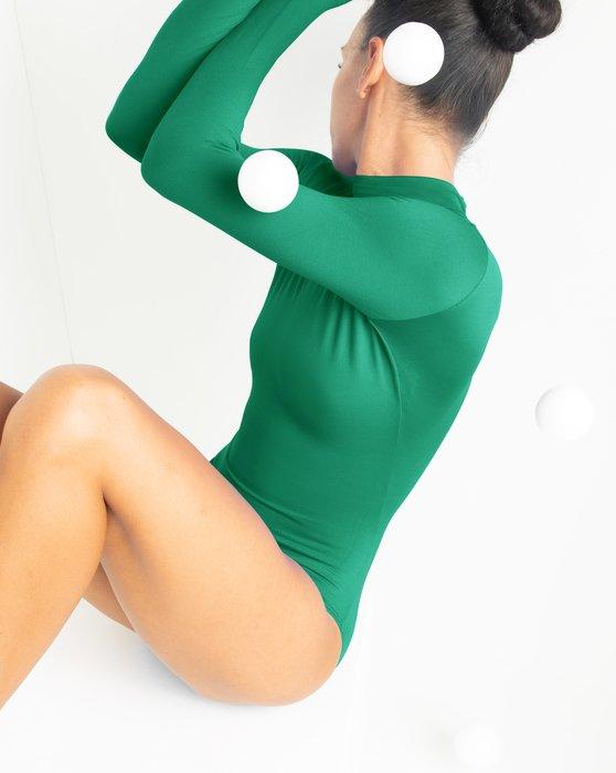 Emerald Womens Long Sleeve Mock Turtleneck Leotard Style# 5008 | We Love Colors