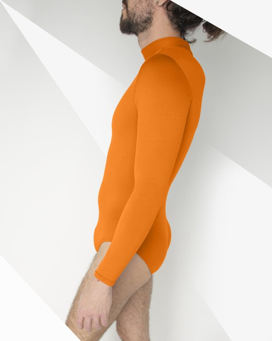 Neon-Orange Womens Long Sleeve Mock Turtleneck Leotard Style# 5008 | We Love Colors