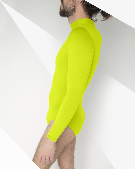 Yellow Womens Long Sleeve Mock Turtleneck Leotard Style# 5008 | We Love Colors