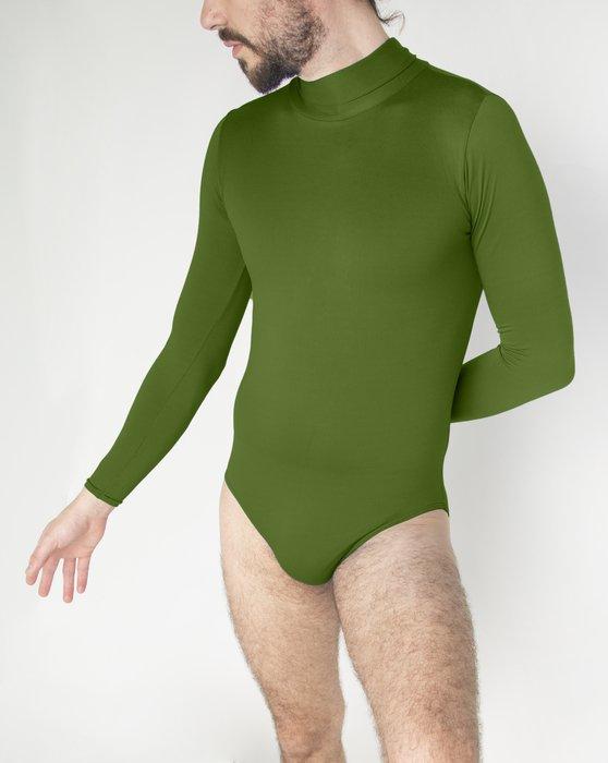 Olive Green Long Sleeve Mock Turtleneck Leotard Style# 5008 | We Love Colors