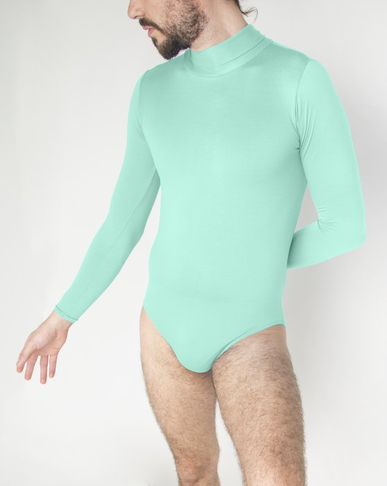 Pastel-Mint Womens Long Sleeve Mock Turtleneck Leotard Style# 5008 | We Love Colors