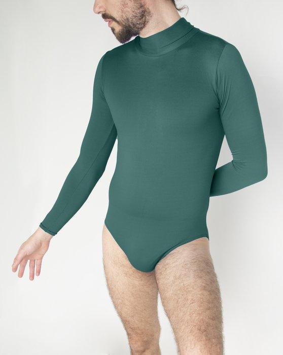 Spruce-Green Womens Long Sleeve Mock Turtleneck Leotard Style# 5008 | We Love Colors