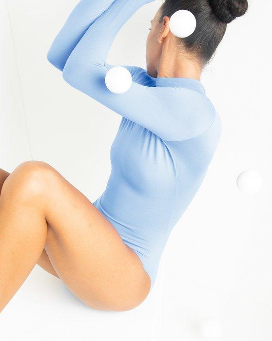 Baby Blue Long Sleeve Mock Turtleneck Leotard Style# 5008 | We Love Colors