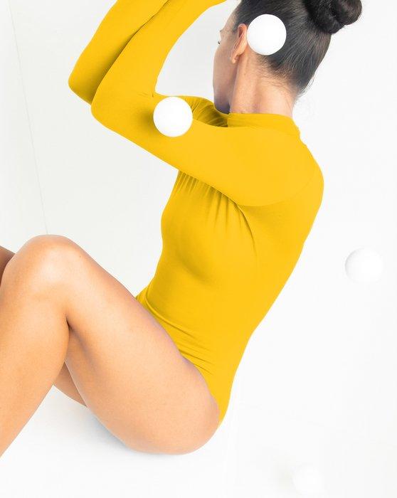 Gold Long Sleeve Mock Turtleneck Leotard Style# 5008 | We Love Colors