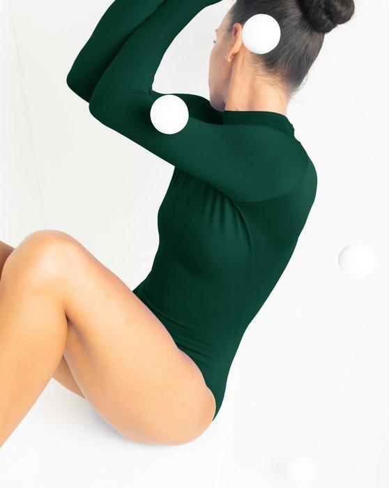 Hunter Green Long Sleeve Mock Turtleneck Leotard Style# 5008   We Love Colors