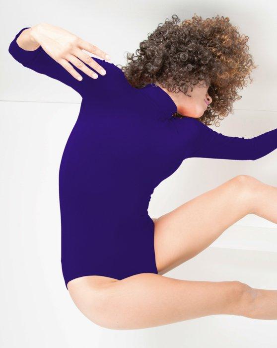 Purple Long Sleeve Mock Turtleneck Leotard Style# 5008   We Love Colors