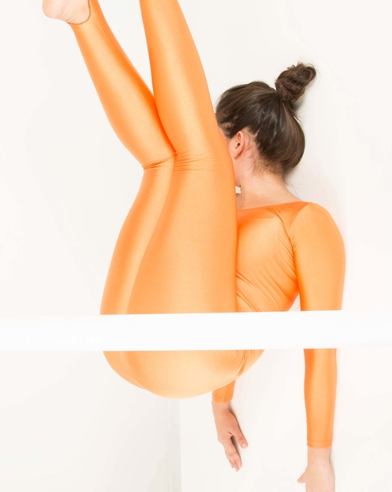Light-Orange Womens Long Sleeve Unitard Style# 5009 | We Love Colors