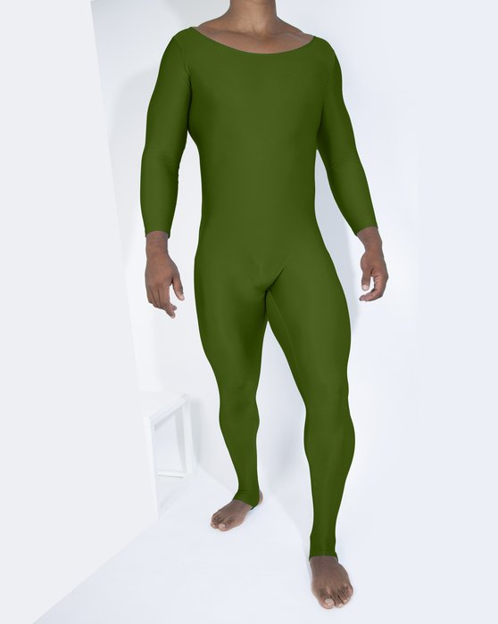 Olive Green Womens Long Sleeve Unitard Style# 5009 | We Love Colors