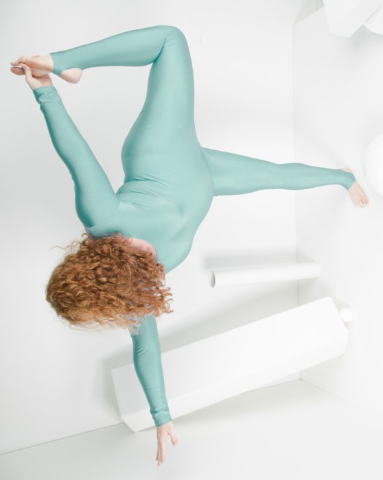 Dusty-Green Womens Long Sleeve Unitard Style# 5009 | We Love Colors