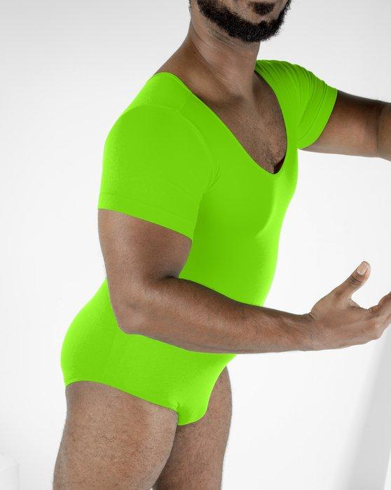 Neon Green Short Sleeve Bodysuit Style# 5013   We Love Colors